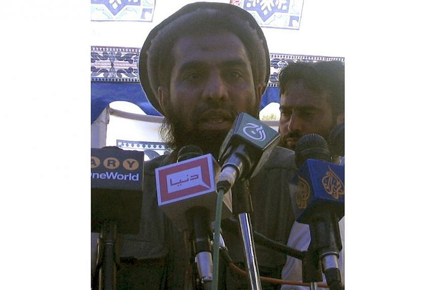Zaki-ur-Rehman Lakhvi speaks during a rally in this April 21, 2008 file photo. -- PHOTO: REUTERS