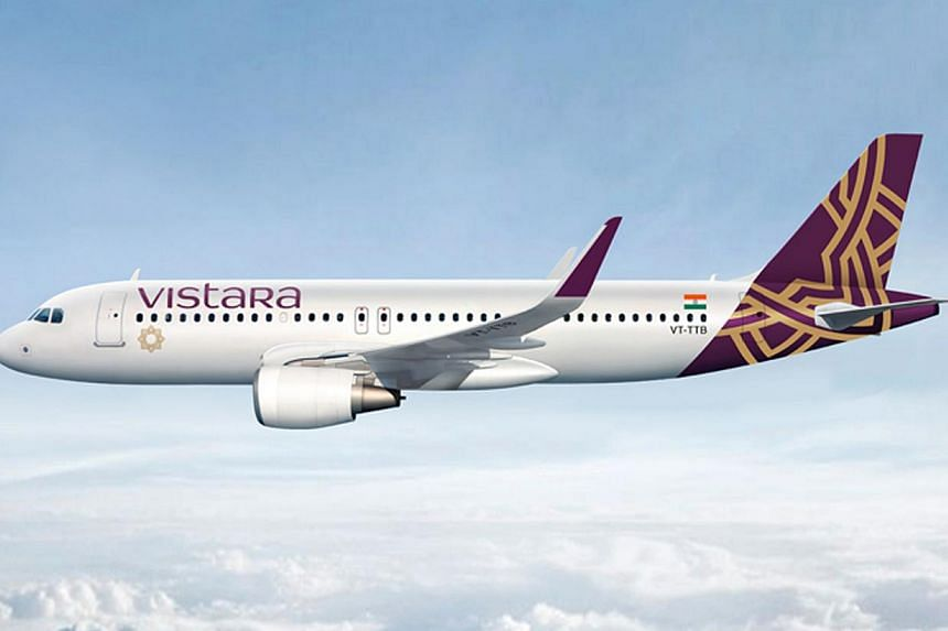 Singapore Airlines's Indian joint venture with the Tata conglomerate, Vistara, will start flying from Jan 9, the airlines said. -- PHOTO: SIA