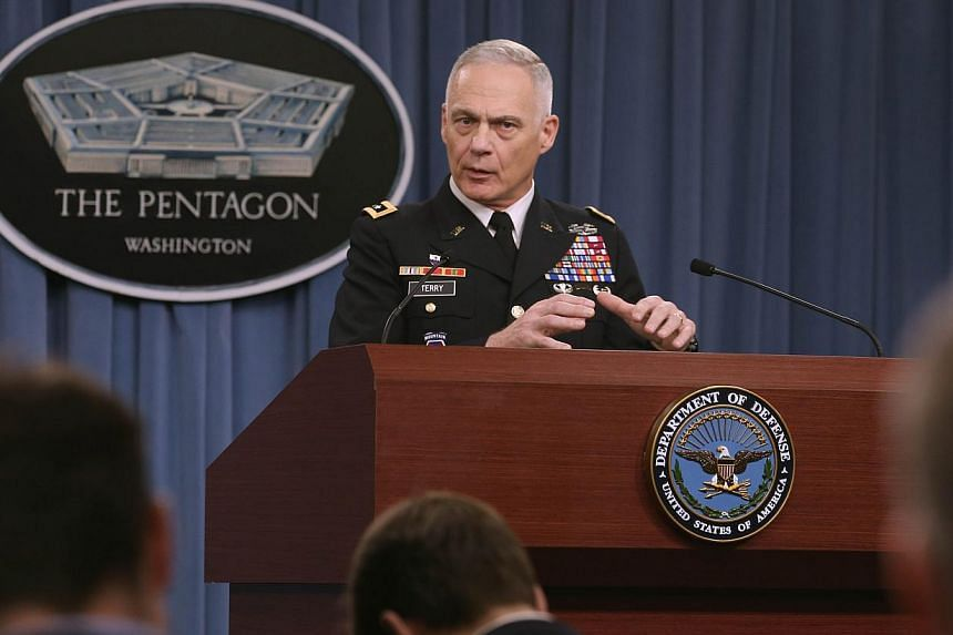 Army Lieutenant-General James Terryspeaks during a briefing at the Pentagon, Dec 18, 2014 in Washington, DC.The general in command of US forces involved in the fight against Islamic State militants in Iraq and Syria said on Thursday