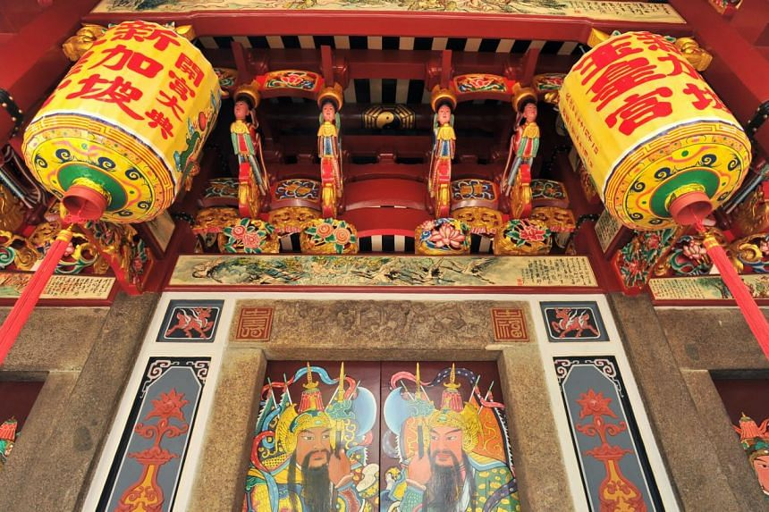 The 170-year-old building, renamed Temple of the Heavenly Jade Emperor, was under restoration for over two years. Previously closed to the public, it will be open to all from Jan 2. -- PHOTO: LIM YAOHUI FOR THE STRAITS TIMES