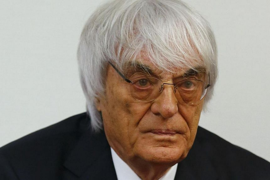German bank BayernLB is seeking €345 million (S$557 million) in a lawsuit against Formula One magnate Bernie Ecclestone (above) over the 2006 sale of the sport's rights, according to a report. -- PHOTO: AFP