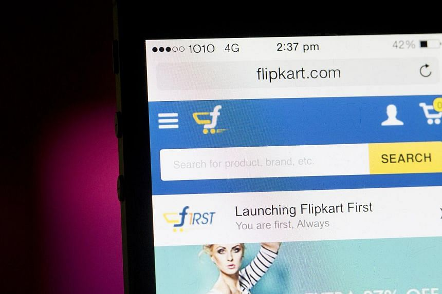 Flipkart on Saturday said it had raised funding worth US$700 million (S$921 million), as it tries to compete with Amazon, which is rapidly scaling up operations in the country.-- PHOTO: BLOOMBERG