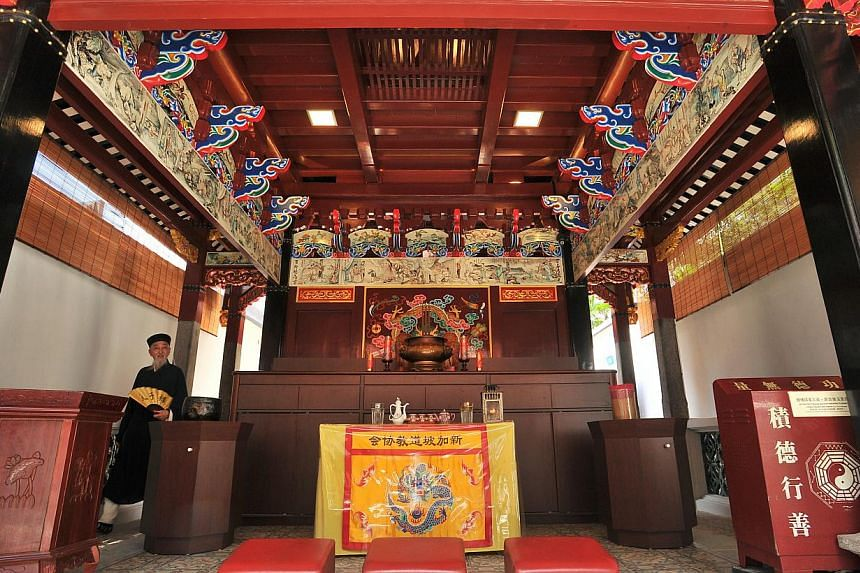 Interior of the temple.-- PHOTO: LIM YAOHUI FOR THE STRAITS TIMES