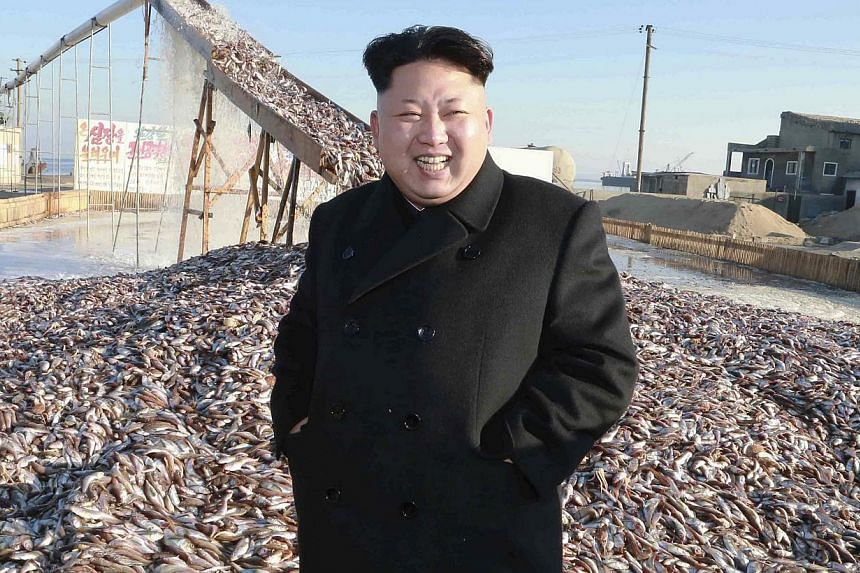 North Korea's leader Kim Jong Un visits a fishery station in this undated photo released Nov 19, 2014. The United States on Friday blamed North Korea for the devastating cyber attack against Sony Pictures, formally acknowledging the involvement of th