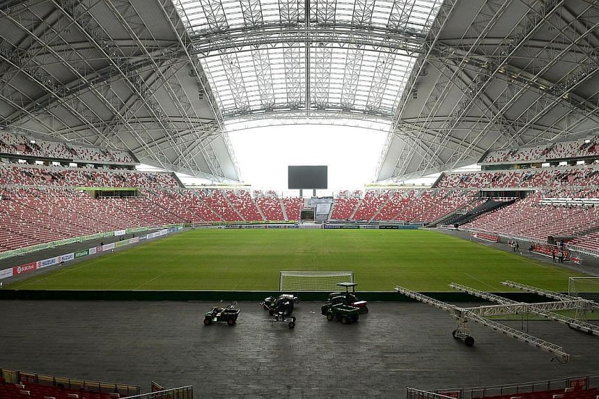 The SportsHub Pte Ltd (SHPL) announced on Saturday that it will grow a natural grass pitch in a nursery that will be transported and laid at the National Stadium in time for June's SEA Games hosted in Singapore. -- PHOTO: ST FILE