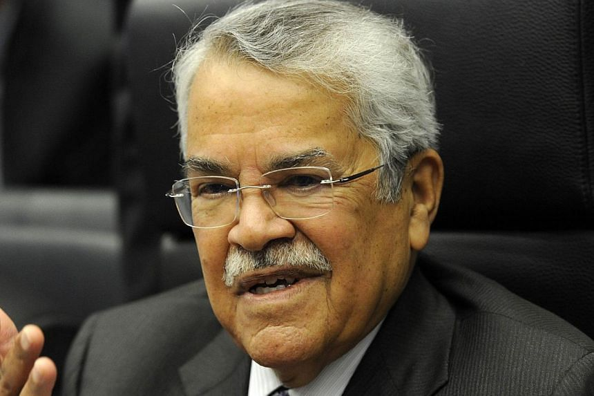 """Saudi Oil Minister Ali al-Naimi said on Sunday, Dec 21, 2014, that he was confident world prices would improve after a slide he blamed partly on """"lack of cooperation"""" by producers outside the OPEC cartel. -- PHOTO: AFP"""