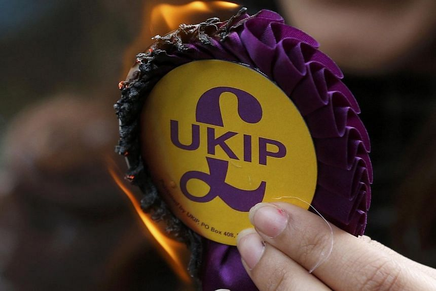 UK Independence Party (UKIP), the British anti-European Union party, has ordered a crackdown on the use of social media by supporters and members following a series of controversies. -- PHOTO: REUTERS