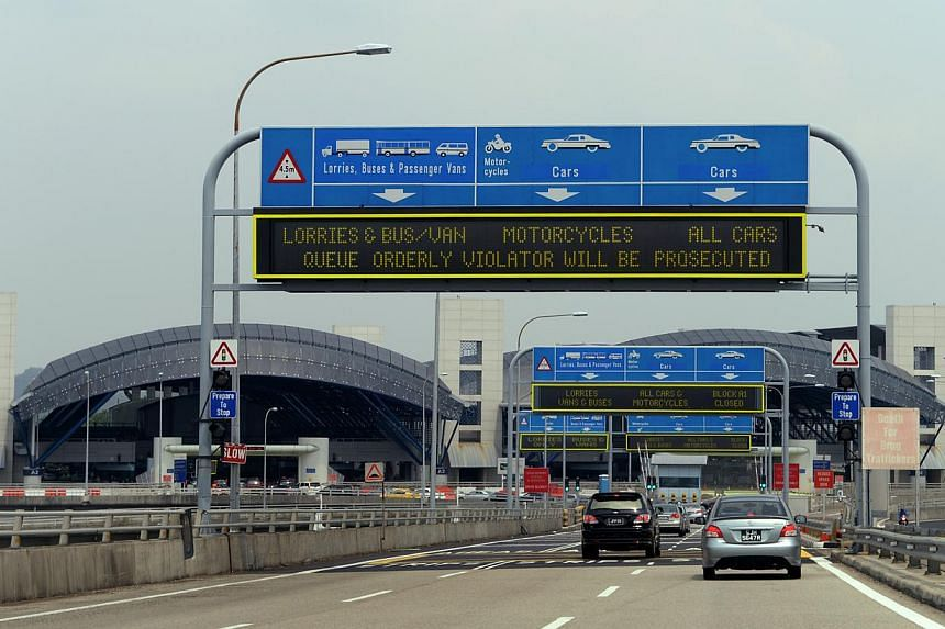 The Singapore Immigrations and Customs checkpoint at Tuas Second Link, as seen from Johor, Malaysia. Malaysia plans to charge RM20 (S$7.60) in vehicle entry permits (VEP) for foreign-registered vehicles coming in from Singapore from around the middle