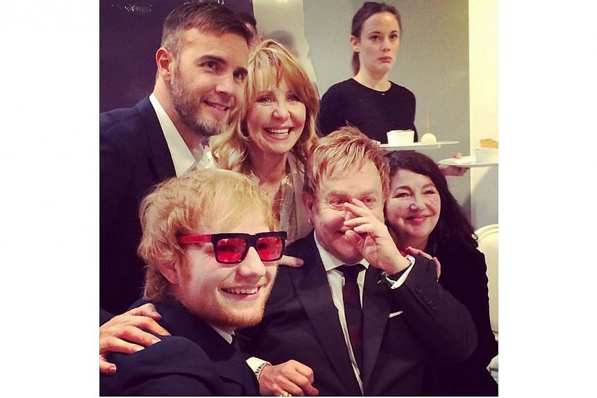 A series of Elton and David's wedding pix posted by Lulu on her Instagram. -- PHOTO: LULUKC/INSTAGRAM