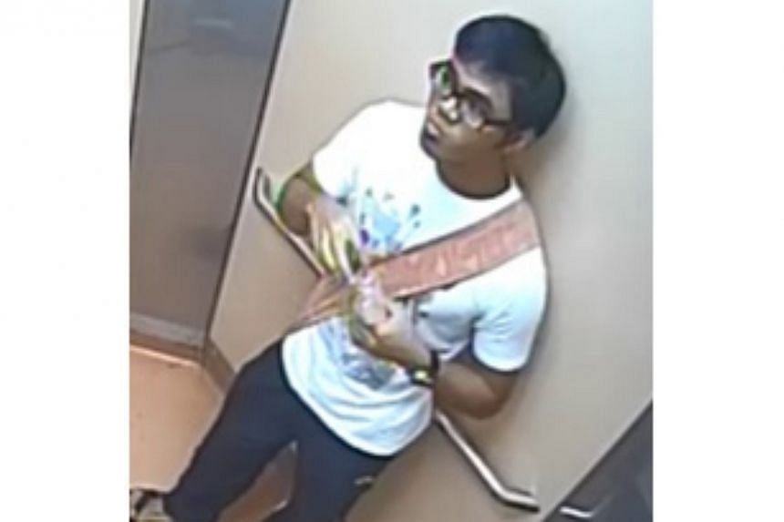 The police are looking for a man in relation to a molestation case reported on Dec 4. -- PHOTO: SINGAPORE POLICE FORCE