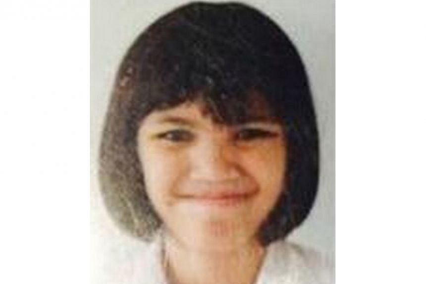 The police are searching for a 12-year-old Malay girl last seen at Toa Payoh bus interchange at 6.50am on Dec 22, 2014. -- PHOTO: SINGAPORE POLICE FORCE/TWITTER