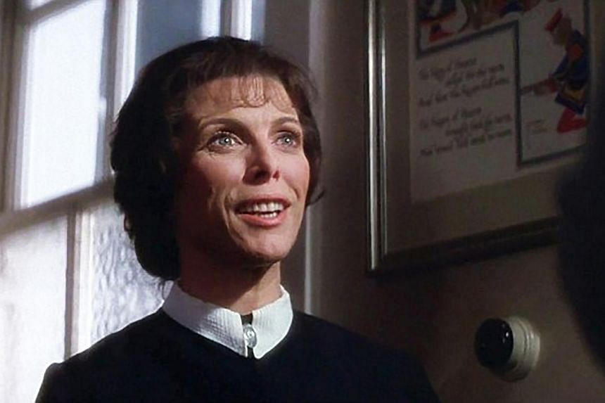 Billie Whitelaw as Mrs Baylock in movie The Omen. The British actress, famous for her intense collaboration with playwright Samuel Beckett who wrote several roles for her, died on Sunday aged 82. -- PHOTO: INTERNET