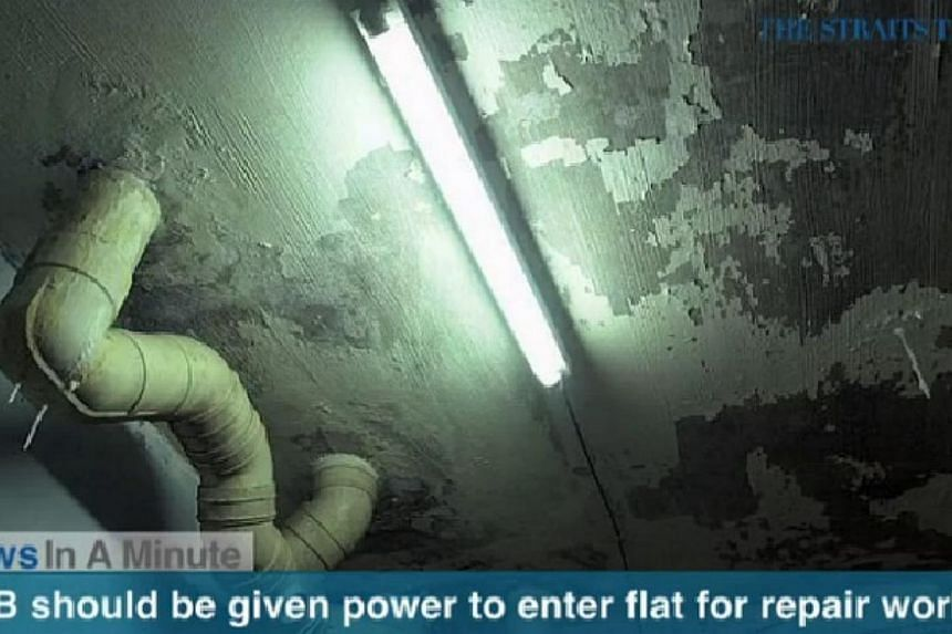 In today's News In A Minute, we look at how National Development Minister Khaw Boon Wan said the Housing Board should be given more power to enter flats to carry out repair works.-- PHOTO: SCREENGRAB FROM RAZORTV