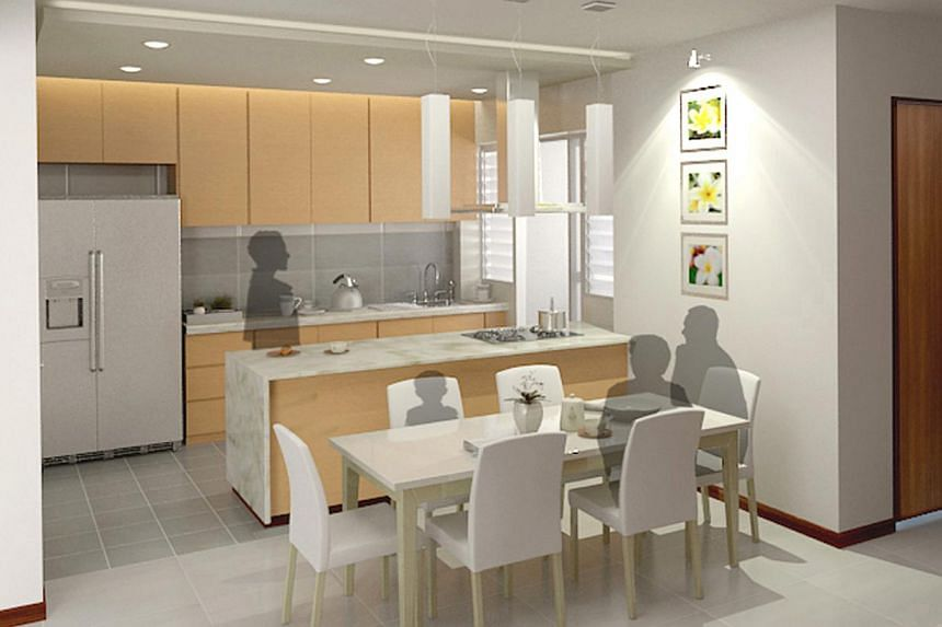 The HDB has offered the open-kitchen option since September last year to give home buyers more flexibility in designing their flats.