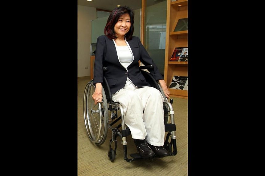 Nominated MP Chia Yong Yong was the first wheelchair-using parliamentarian in the House.