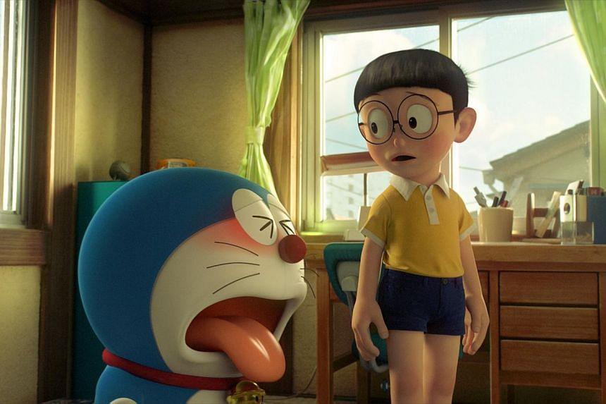 Movie stills from Stand By Me Doraemon. -- PHOTO: GOLDEN VILLAGE PICTURES
