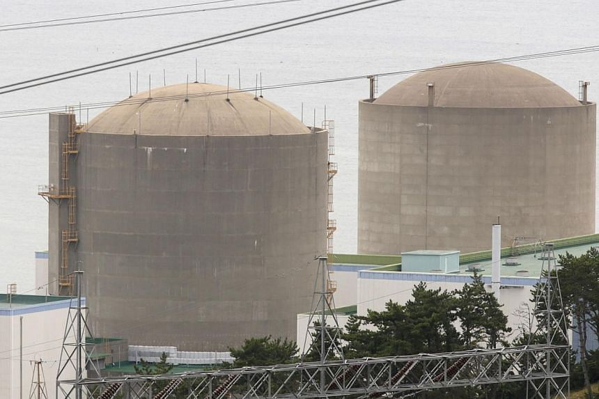 The Kori No. 1 reactor (right) and No. 2 reactor of state-run utility Korea Electric Power Corp (Kepco) are seen in Ulsan, south-east of Seoul in this Sept 3, 2013 file photo.South Korea's nuclear power plant operator said on Tuesday it was inv
