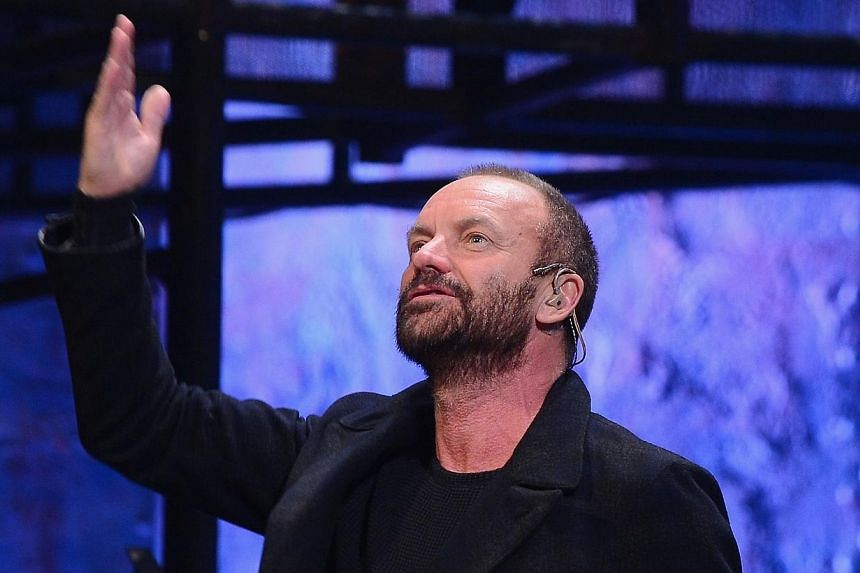 """Musician/playwright Sting attends the curtain call at a performance of """"The Last Ship"""" at Neil Simon Theatre on Dec 9, 2014 in New York City.Grammy-winning rock star Sting has boosted ticket sales of his Broadway musical The Last Ship and won p"""