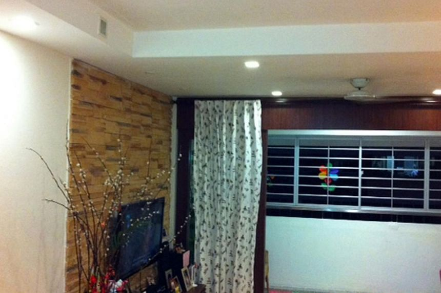 The interior of a flat at Block 149 Mei Ling Street in Queenstown that sold for $1 million. -- PHOTO:IRENE HO