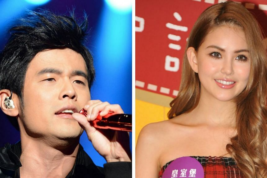 Mandopop king Jay Chou (left) has confirmed that he will be getting married to model-actress Hannah Quinlivan (right) on Jan 18, 2015. -- PHOTOS: ST FILE / APPLE DAILY