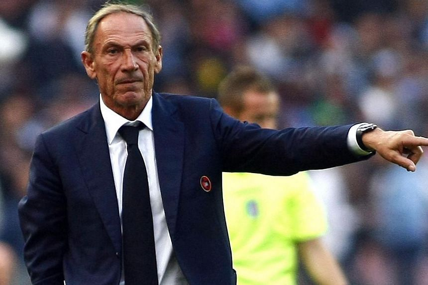 Cagliari's Czech coach Zdenek Zeman gestures during the Italian Serie A football match SSC Napoli v Cagliari Calcio on Nov 23, 2014, at the San Paolo stadium in Naples. -- PHOTO: AFP