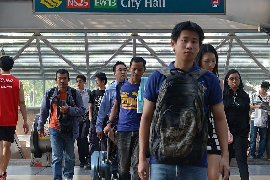 SMRT train services on the North-South, East-West and Circle Lines, as well as the Bukit Panjang LRT, will be extended on Dec 31. -- PHOTO: ST FILE