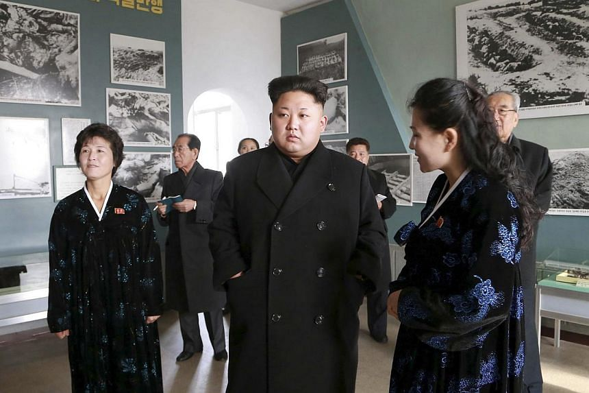 North Korean leader Kim Jong Un giving field guidance to the Sinchon Museum in this undated photo released by North Korea's Korean Central News Agency (KCNA) in Pyongyang on Nov 25. -- PHOTO: REUTERS