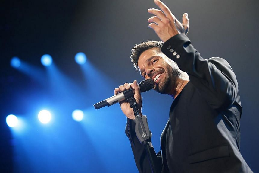 Singer Ricky Martin performs during the first-ever iHeartRadio Fiesta Latina at The Forum in Inglewood, California last month. -- PHOTO: REUTERS
