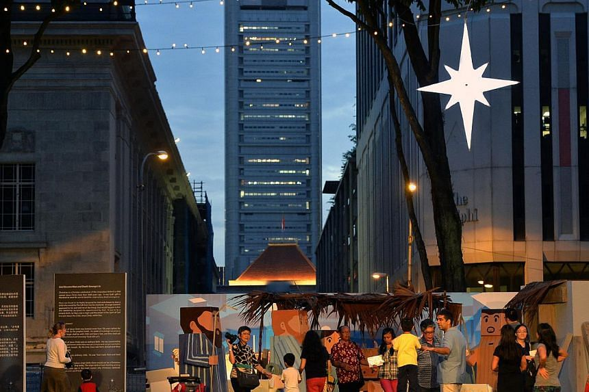 The Nativity scene set on the grounds of St Andrew's Cathedral is set amidst the modern city backdrop. The church features a colourful, life-size display of Bethlehem, the birth place of Jesus Christ and outdoor Christmas performances leading up to C