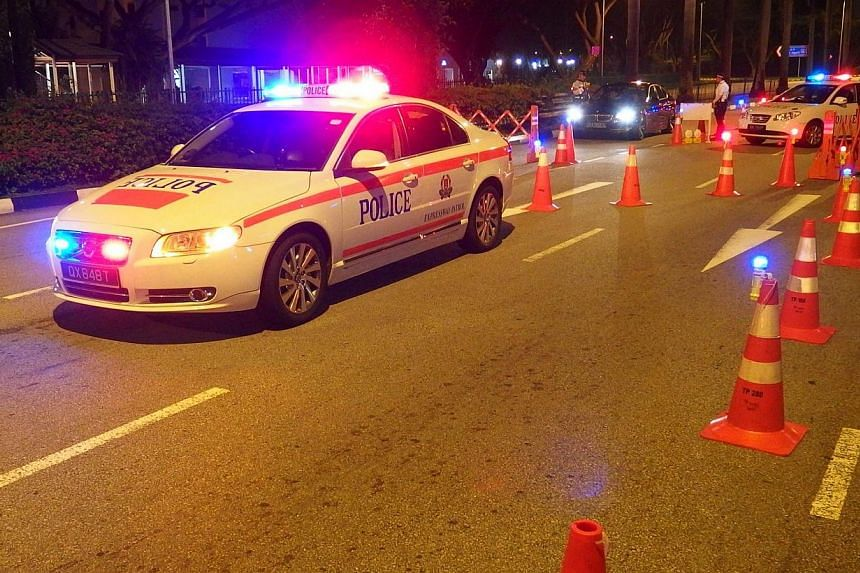 The Traffic Police will step up on anti-drink driving operations during the festive season. It will also set up road blocks islandwide. -- PHOTO: SINGAPORE POLICE FORCE