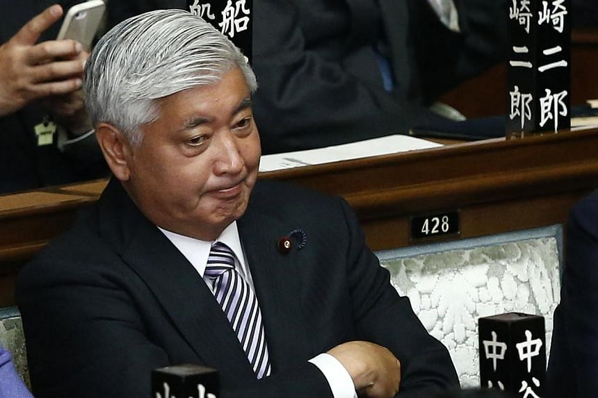 Japan's ruling Liberal Democratic Party lawmaker Gen Nakatani is seen at the Lower House of the Parliament in Tokyo on Dec 24, 2014. -- PHOTO: REUTERS
