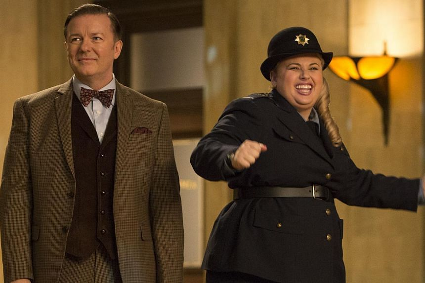 The funny Rebel Wilson (right, with Ricky Gervais) is underutilised. -- PHOTO: TWENTIETH CENTURY FOX