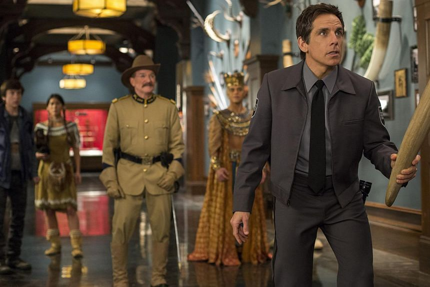 Ben Stiller (right) as the security guard Larry cracks jokes and takes a dig at himself. -- PHOTO: TWENTIETH CENTURY FOX