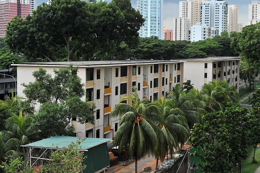 Standing out against a backdrop of taller and newer blocks, the old four-storey ones were built by the now-defunct Singapore Improvement Trust, which provided public housing before the HDB took over in 1960.