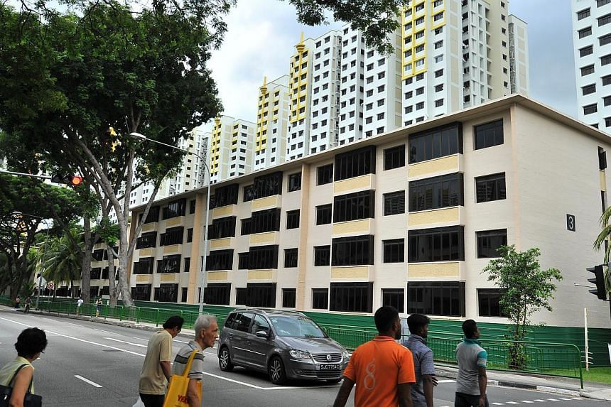 Block 3 of the Singapore Improvement Trust blocks at Tiong Bahru Road on Dec 18, 2014. -- PHOTO: LIM YAOHUI FOR THE STRAITS TIMES