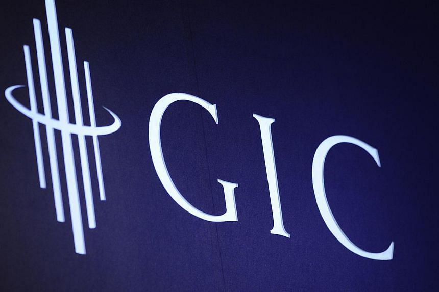 The logo of the Government of Singapore Investment Corp. (GIC) is displayed during GIC's 30th anniversary conference in Singapore in 2011. -- PHOTO: MUNSHI AHMED