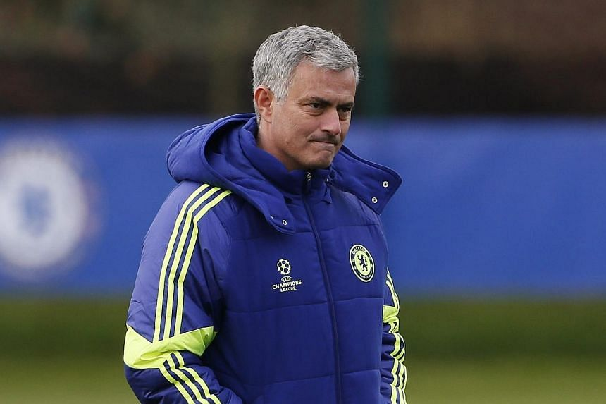 Chelsea's manager Jose Mourinho attends a team training session in Cobham, southern England on Dec 9, 2014. Mourinho wants his players to show the world why they are currently on top of the Premier League table when they host West Ham United on Frida