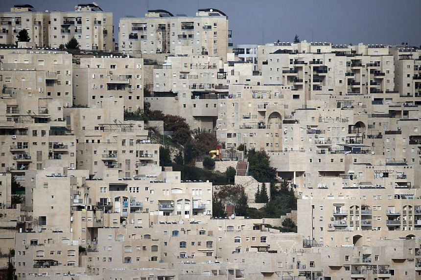 A partial view taken on Dec 18, 2014 shows the east Jerusalem Israeli settlement of Har Homa.Israel has given preliminary approval for the construction of 243 new homes on West Bank land that Israel annexed to Jerusalem, and advanced plans for