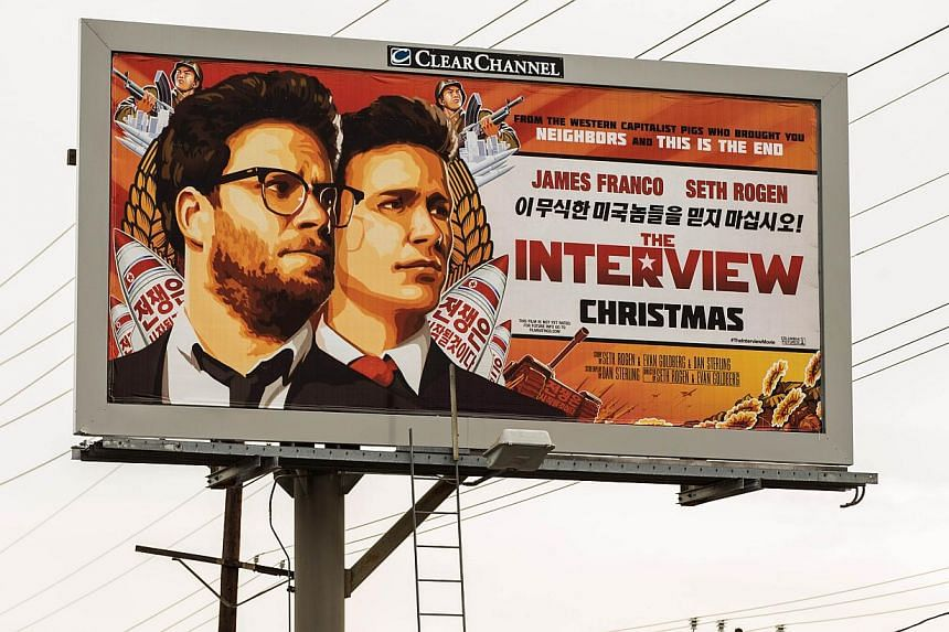 A billboard for the film The Interview is displayed Dec 19, 2014 in Venice, California.Google's YouTube unit has tentatively agreed to distribute the Sony Pictures film The Interview, at the centre of a destructive cyber attack, offering online