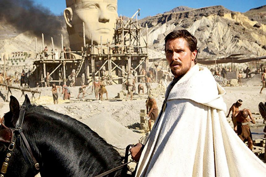 A cinema still from the movie Exodus: Gods And Kings, starring Christian Bale as Moses.Morocco has banned cinemas from showing the biblical epic just one day before the Hollywood blockbuster was due to be screened, media reports said Thursday.