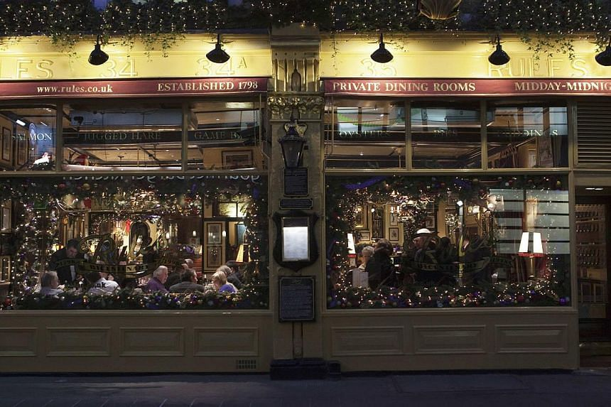The exterior of Rules restaurant in London is seen in this Dec 15, 2011 file photo. -- PHOTO: REUTERS