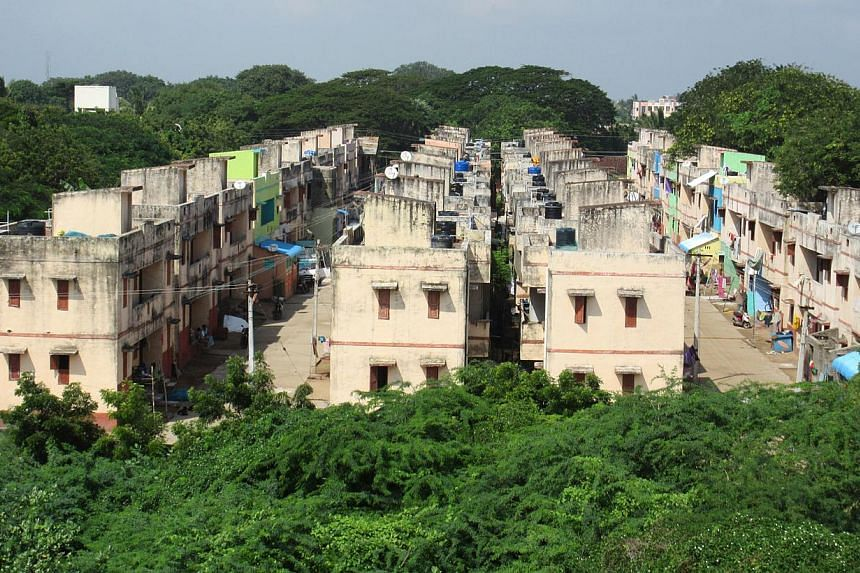 Homes built for tsunami survivors in Akaraipettai village in Nagapattinam, which bore the brunt of the tsunami in mainland India. -- PHOTO: ST FILE