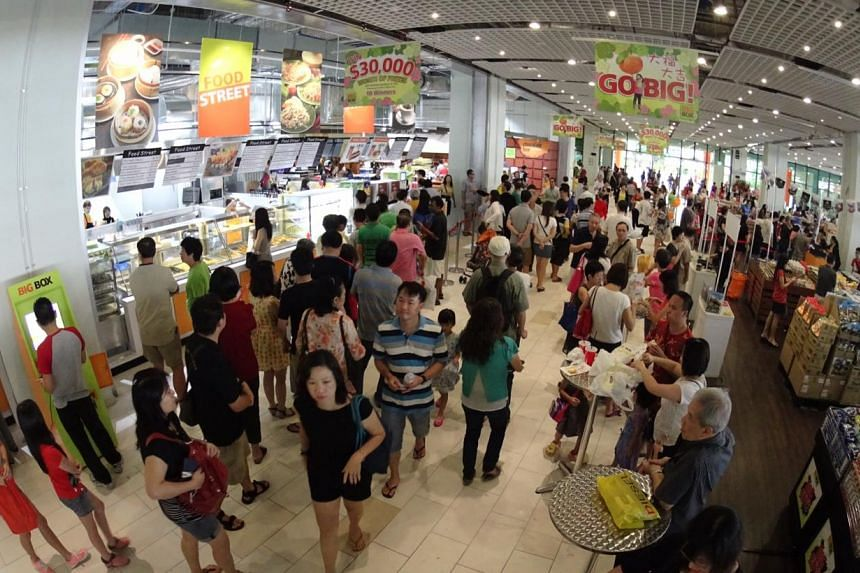 Megastore Big Box drew a big crowd on Saturday when it opened its doors. -- PHOTO: CHEW SENG KIM