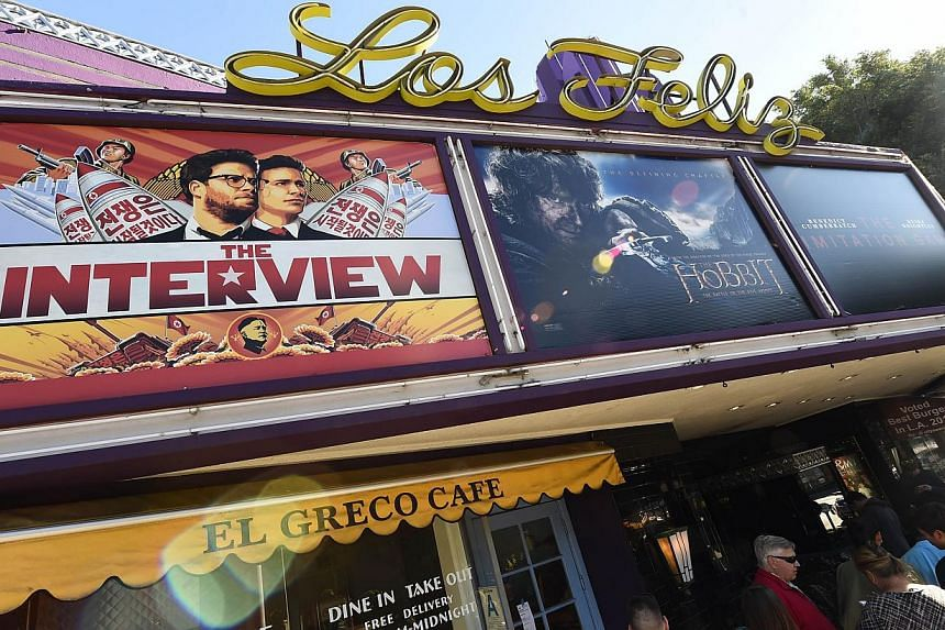 The muchanticipated film The Interview received harsh reviews from critics. -- PHOTO: AGENCE FRANCE-PRESSE