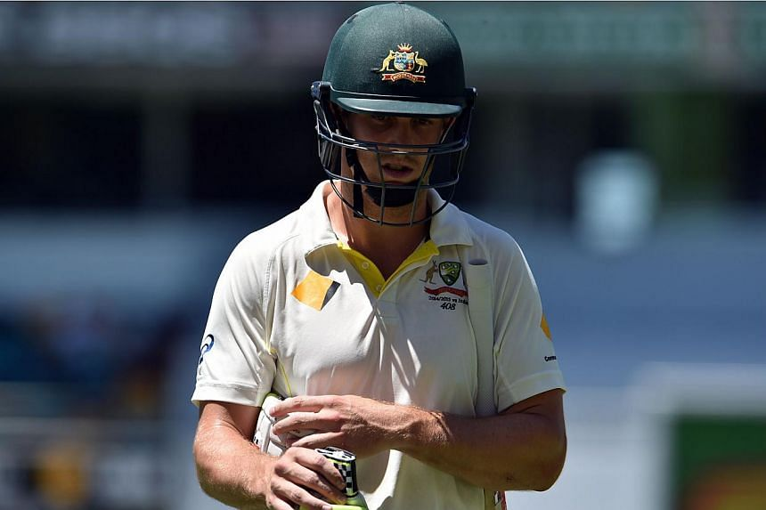 Australia's all-rounder Mitchell Marsh has been ruled out of the fourth and final cricket Test against India after aggravating a hamstring injury.-- PHOTO: AFP