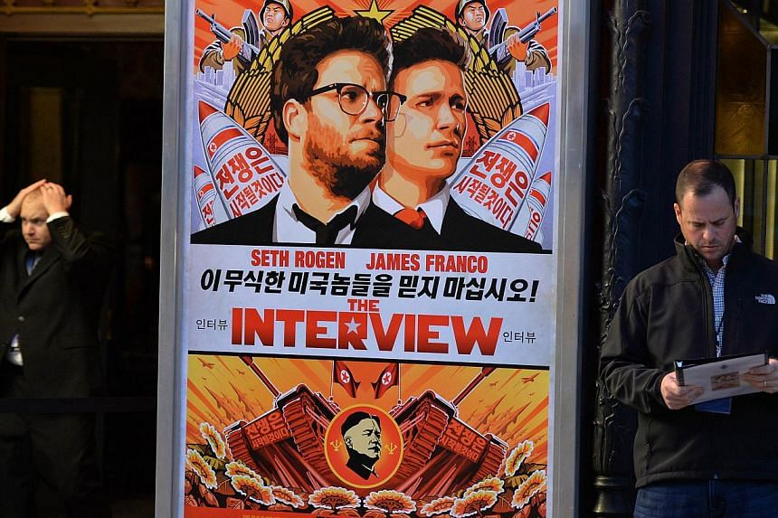 Sony Pictures comedy The Interview grossed more than US$1 million (S$1.3 million) in limited release at the US box office on Dec 25, the studio said on Friday. -- PHOTO: AFP