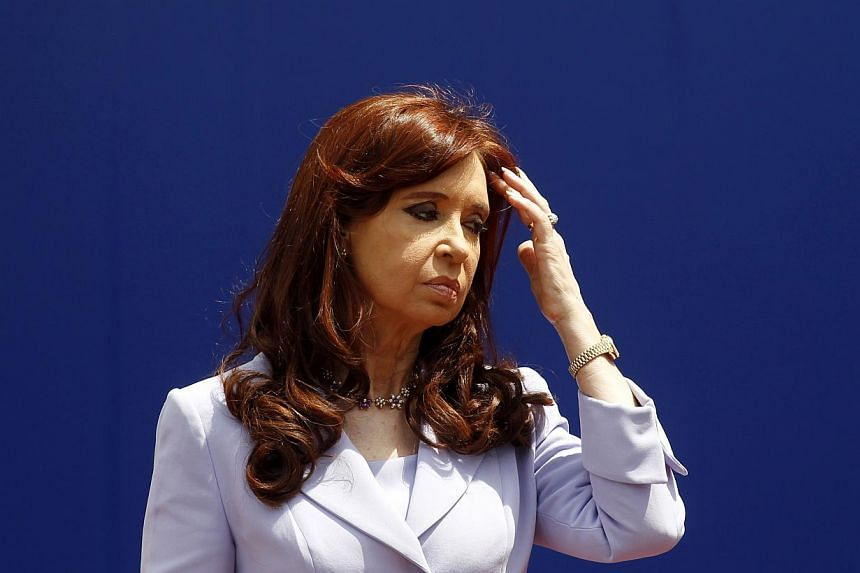 Argentine President Cristina Kirchner was hospitalised on Friday after spraining her ankle. -- PHOTO: REUTERS