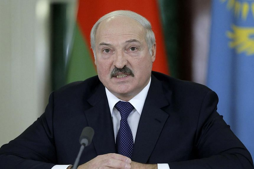 Belarus President Alexander Lukashenko speaks during a news conference after a meeting of the Eurasian Economic Union at the Kremlin in Moscow on Dec 23, 2014. -- PHOTO: REUTERS