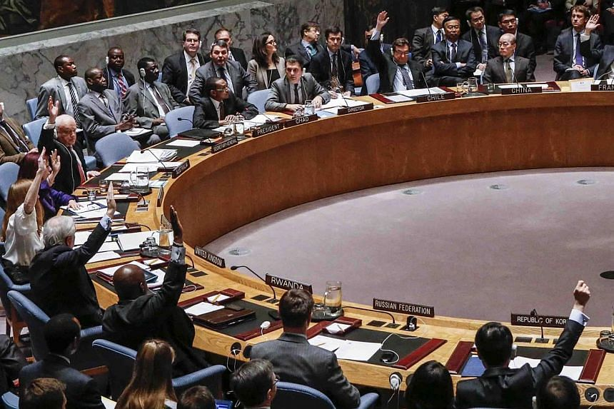 A UN Security Council meeting to discuss in North Korea on Dec 22, 2014, in New York City. -- PHOTO: AFP