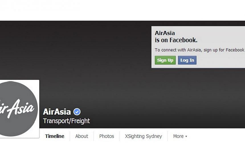 Air Asia Indonesia has changed its red logo to grey on its Twitter and Facebook pages, after QZ8501 lost contact with air traffic control on Sunday on its way from Surabaya to Singapore. -- PHOTO:AIRASIAINDONESIA/FACEBOOK